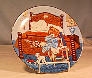 Lovable Teddies Collector's Plate-bedtime Blues