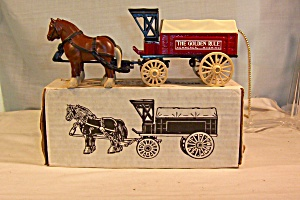 Horse And Delivery Wagon Bank, By Ertl