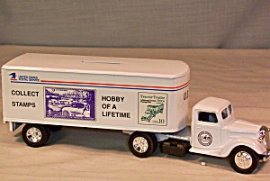 Ertl 1937 Ford Tractor Trailer Usps