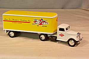 Ertl 1937 Ford Tractor Trailer Thompson Trucking