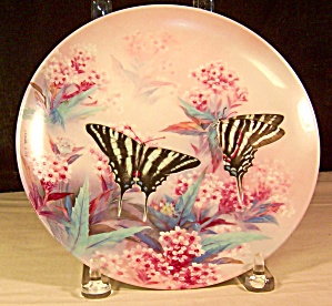 Zebra Swallowtails Collector Plate By Lena Liu