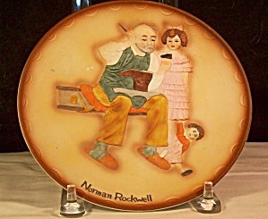 Norman Rockwell -the Cobbler-collector Plate-1981