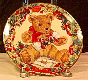 Franklin Mint Teddy's First Christmas Collector's Plate