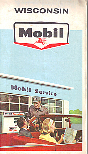 Mobil Oil Wisconsin Highway Map