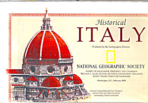 Historical Italy Nat Geo Map Ma0027