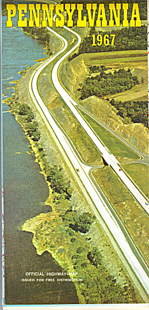 Pennsylvania Road Map 1967