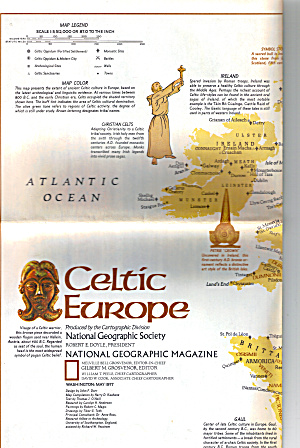 Celtic Europe Nat Geo Map