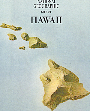 Hawaii And Midway Nat Geo Map
