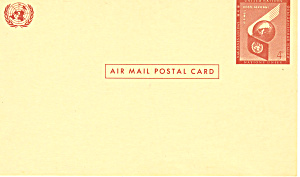 United Nations 6 Cent Airmail Postal Card
