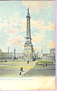 Soldiers Monument Indianapolis In Postcard P22447 Tuck S