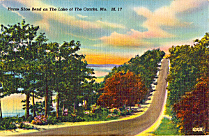 Horse Shoe Bend On Lake Of The Ozarks Postcard P24532