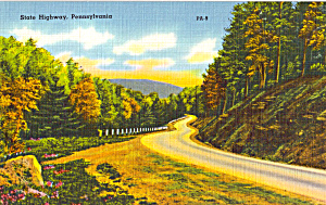 State Highway Pennsylvania Postcard P25315