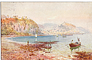 Torquay Fromtor Abbey Sands Tuck S Postcard P25612