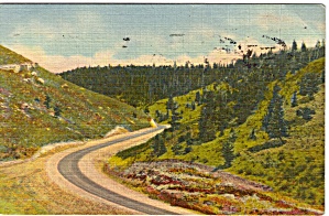 Us 30 On Sherman Hill Wyoming Postcard P27129