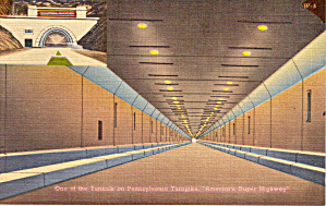 One Of Tunnels On Pennsylvania Turnpike P29246a