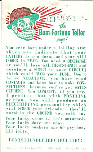 Hobo The Bum Fortune Teller Says Arcade Card P35870