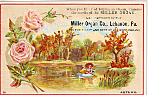 The Miller Organ Trade Card