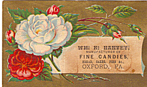 Wm K Hanvey Fine Candies Trade Card