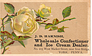 J D Harnish, Confectioner And Ice Cream Dealer