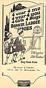 Reichley & Porter, Bonnie Laddie Shoestrade Card