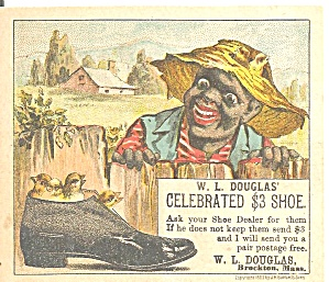 W L Douglas Shoes Trade Card Tc0231