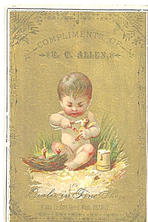 R C Allen Dealer In Fine Shoes Trade Card Tc0245