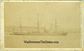 Cdv, Ship Photographed In Liverpool, England