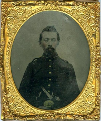 Tintype, Double Armed Yankee Wearing U.s. Belt Plate