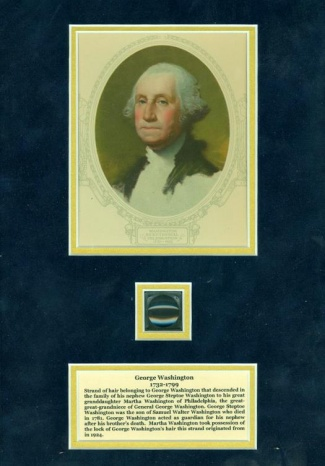 General George Washington Hair Display