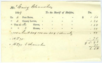 1849 Virginia Tax Receipt Listing Slaves