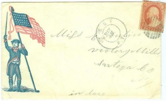 Union Patriotic Cover Postmarked At Troy, N.y.