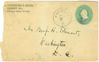 Rutherford B. Hayes Personal Imprinted Cover