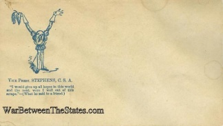 Patriotic Cover, Vice President Alexander H. Stephens, C.s.a.