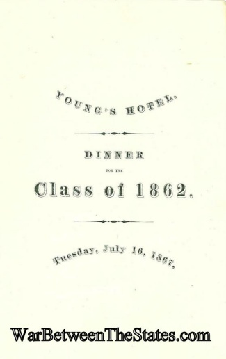 Harvard Class Of 1862 Dinner Program