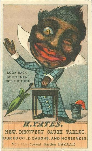 Negro Advertising Card, H. Yates Caugh Tablets