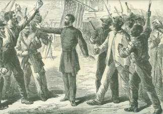 The Freedmen's Bureau, Negroes & Soldiers About To Clash