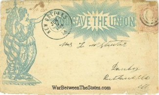 1862 Union Patriotic Cover Mailed From New Orleans, La.