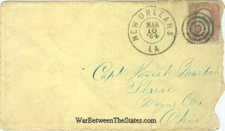 1864 Cover From New Orleans, La. Sent To Ohio Captain