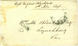 War Date Cover Endorsed & Addressed By Confederate Capt.