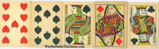 Group Lot Of 5 Antique Playing Cards