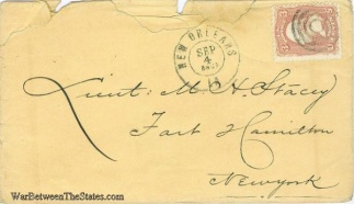 1862 Cover Sent From New Orleans, La.