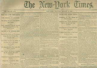The New York Times, August 4, 1863