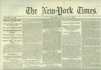 The New York Times, April 7, 1863