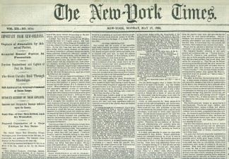 The New York Times, New York, May 18, 1863