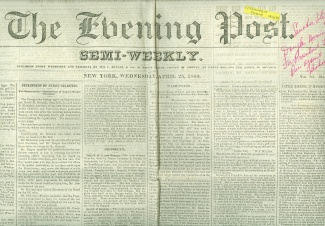 The Evening Post, New York, April 25, 1860